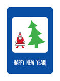 New year greeting card stylised as a road sign Royalty Free Stock Photo