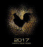 New Year Greeting Card with Symbol of 2017 on the Chinese Calendar. Rooster. New Year Greeting Card with Symbol of 2017 on the Chinese Calendar. Cock on the Royalty Free Stock Photography