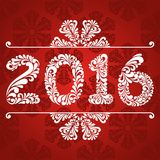 New Year 2016 greeting card. Vector background with christmas decoration Royalty Free Stock Photography