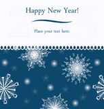 New Year greeting card. Vector background on the Christmas theme Royalty Free Stock Photo