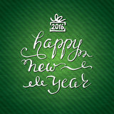 New Year greeting card. vector eps 10. New Year greeting card on green background. vector eps 10 Stock Photo