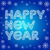 New year greeting card. Vector illustration stock illustration