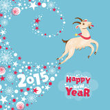 New Year greeting card. Vector illustration Royalty Free Stock Photos