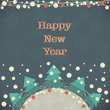 New Year Greeting Card. Stock Photo