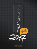 2017 new year greeting card Stock Photos