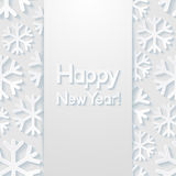 New year greeting card. Vector illustration Stock Photo