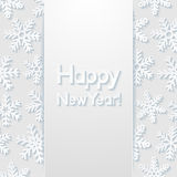 New year greeting card. Vector illustration Stock Image