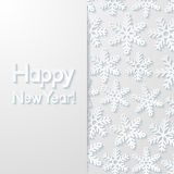 New year greeting card. Vector illustration Royalty Free Stock Image