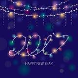 2017 new year greeting card. Vector illustration, eps 10 Vector Illustration