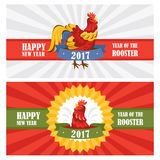 New year greeting cards. Vector illustration Stock Image