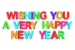 New year greeting in colourful letters Stock Photos