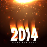 New year greeting. Creative happy new year 2014 greeting design Stock Photos