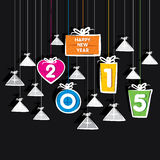 New year 2015 greeting design cocnept. Creative new year 2015 greeting gift pattern design Stock Image
