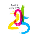 New year 2015 greeting design. Creative happy new year 2015 greeting design Royalty Free Stock Photo