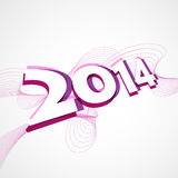 New year greeting design. Stylish colorful happy new year 2014 design Stock Image