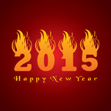 New year greeting 2015 with fire Royalty Free Stock Image