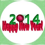 With the new year 2014!. Greeting the new year in the form of postcards Stock Photo