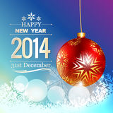 New year greeting. Happy new year greeting background stock illustration