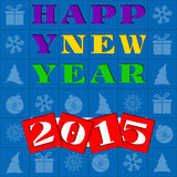 New Year greeting illustration Royalty Free Stock Image