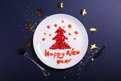 New Year greeting royalty free stock photo