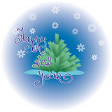 New year greeting picture Royalty Free Stock Image