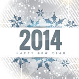 New year greeting. Vector happy new year 2014 greeting design Stock Image