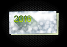 New Year Greetings card. On the black background Royalty Free Stock Images