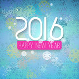 New Year greetings card. With colorful background with blue green color scheme Stock Photos