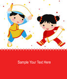 New Year Greetings_children Stock Photography