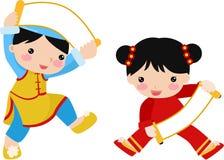 New Year Greetings_children. Illustration Royalty Free Stock Image