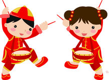 New Year Greetings_children. Illustration Royalty Free Stock Photos
