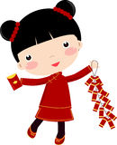 New Year Greetings_Girl Royalty Free Stock Photo