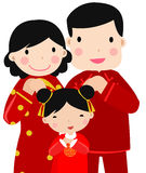 New Year Greetings_happy family Royalty Free Stock Photos