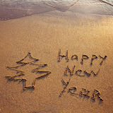 New year greetings from tropics Stock Photo