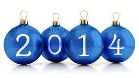 2014 New year group of balls Stock Image