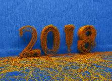 New year 2018 Stock Photos