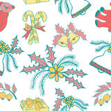 New year hand drawn pattern Royalty Free Stock Images