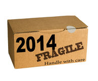 New Year - handle with care. New Year concept - future stock images