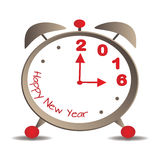 New Year 2016. The hands of the alarm mark the arrival of the new year - 2016 Royalty Free Stock Images