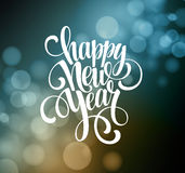 New Year, Handwritten Typography over blurred Stock Photography
