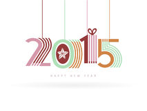 New Year 2015 hanging over white. Background Royalty Free Stock Image