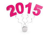 New year 2015. Happy new year, new year 2015 Royalty Free Stock Photography