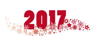 2017 new year. 2017 happy new year - Arabic numerals and stars Stock Photos