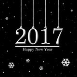 New year 2017. Happy New year 2017 card Royalty Free Stock Photos