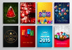 2015 New Year and Happy Christmas background. Set of 2015 New Year and Happy Christmas background for your flyers, invitation, party posters, greetings card Stock Image