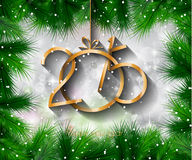 2015 New Year and Happy Christmas background for your flyers Royalty Free Stock Images