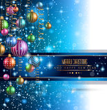 2015 New Year and Happy Christmas background for your flyers Stock Photography
