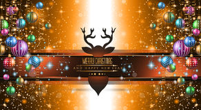2015 New Year and Happy Christmas background for your flyers Stock Images