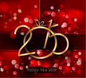 2015 New Year and Happy Christmas background for your flyers Royalty Free Stock Image