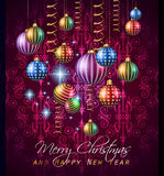 2015 New Year and Happy Christmas background for your flyers Royalty Free Stock Photos